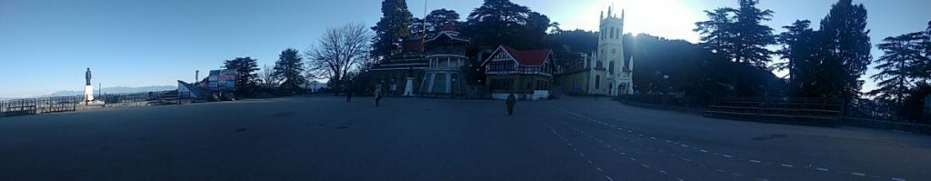Shimla The Ridge Panorama View