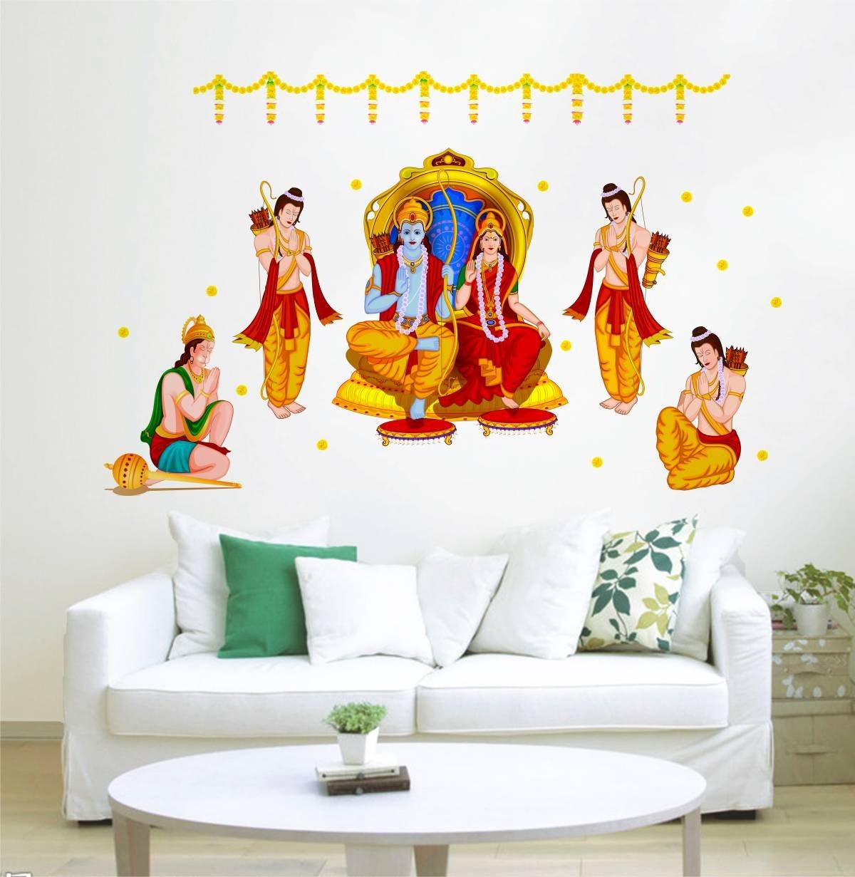 God_Ram_Seetha_Hanuman_Wall_Sticker
