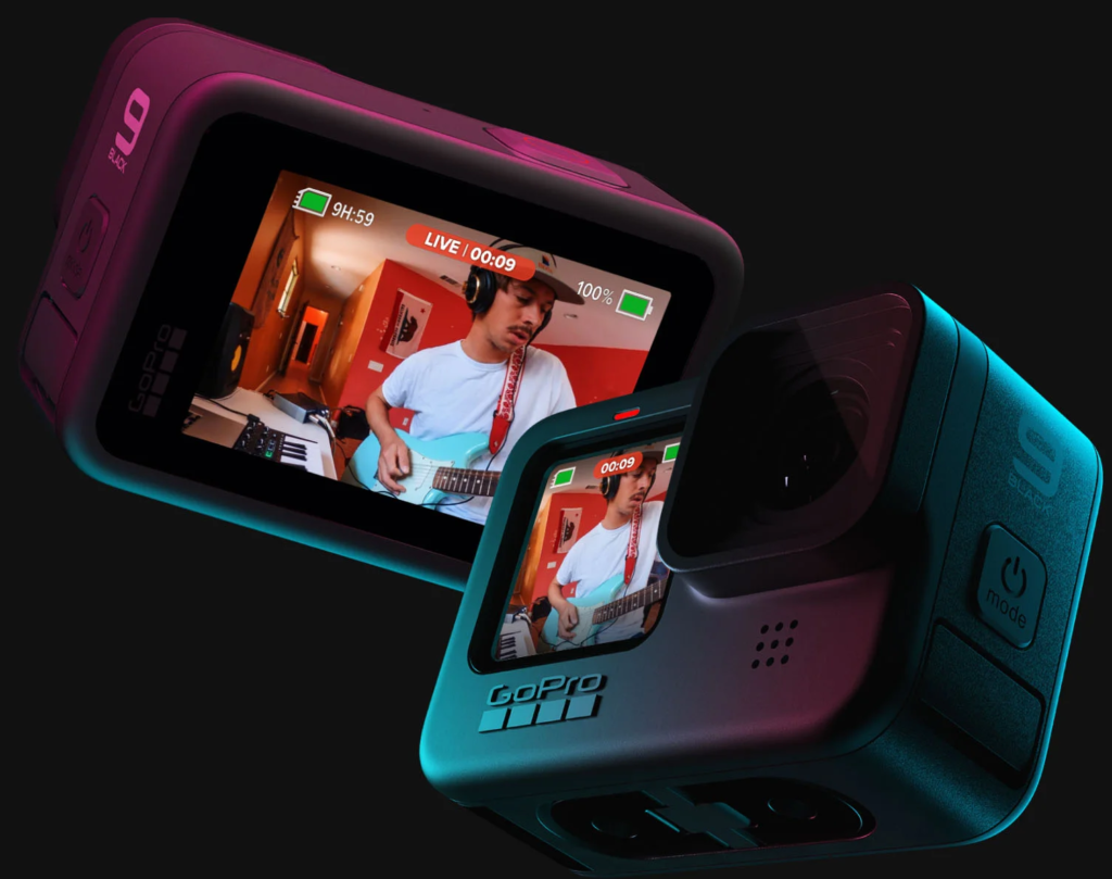 front LCD screen with a live preview, All Travel Story, Hero9 Black